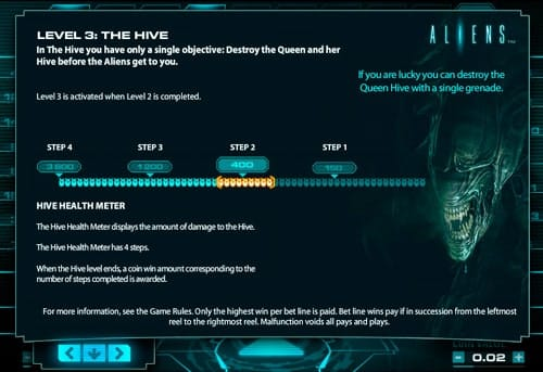 Третий призовой раунд автомата Aliens