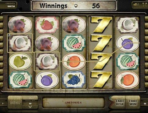 Выигрышная комбинация символов в автомате Wild Fruits