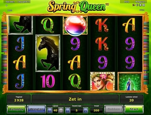Выигрыш в автомате Queen of Spring