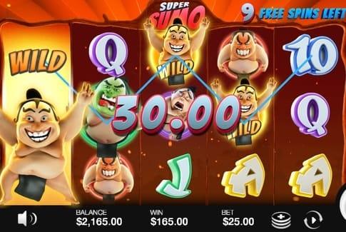 Дикие символы в игровом аппарате Super Sumo