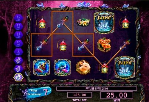 Фриспины в игровом автомате Crystal Forest