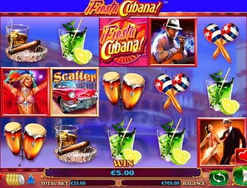 Призовая комбинация в игровом автомате Fiesta Cubana