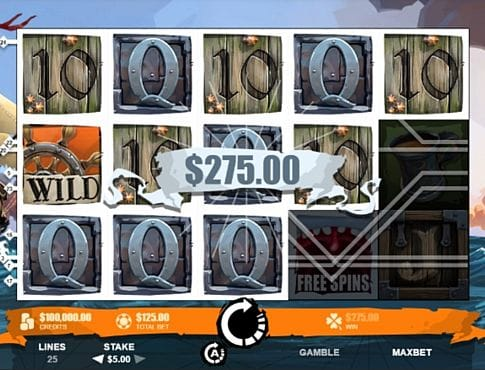 Призовая комбинация символов в игровом автомате Moby Dick
