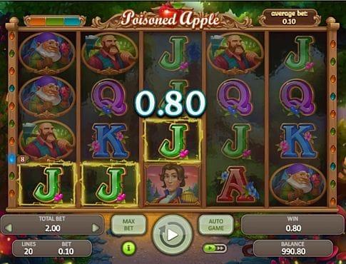 Призовая комбинация на линии в игровом автомате Poisoned Apple