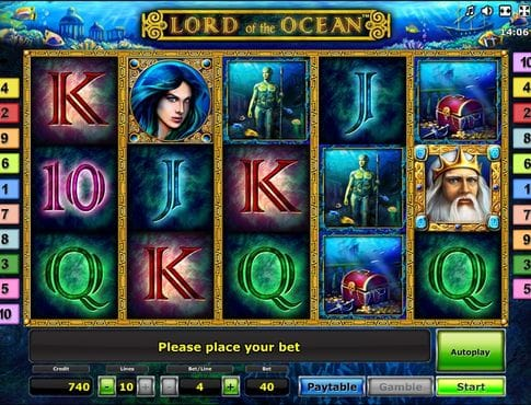 Игровые символы аппарата Lord of The Ocean