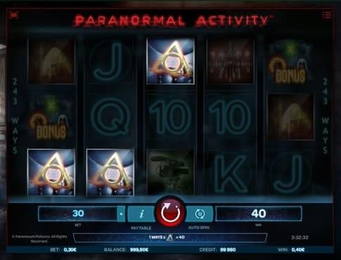 Выигрыш в онлайн автомате Paranormal Activity