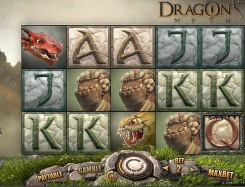 Комбинация символов в игре Dragon's Myth