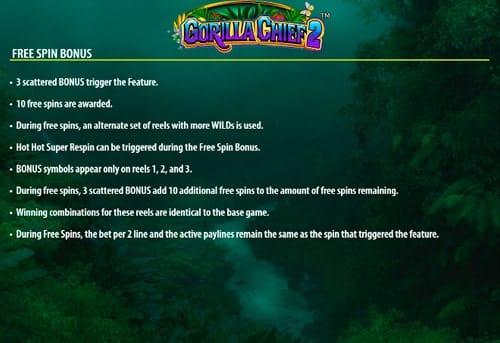 Серия фриспинов в онлайн слоте Gorilla Chief 2