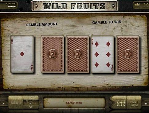 Риск-игра в онлайн слоте Wild Fruits