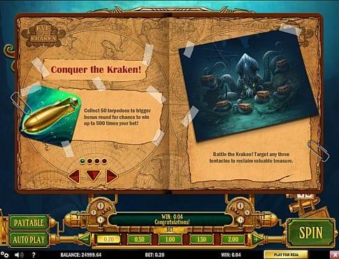 Правила бонусной игры в слоте Eye of the Kraken