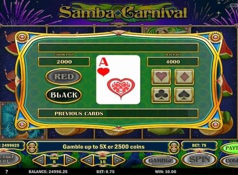 Игра на умножение в слоте Samba Carnival