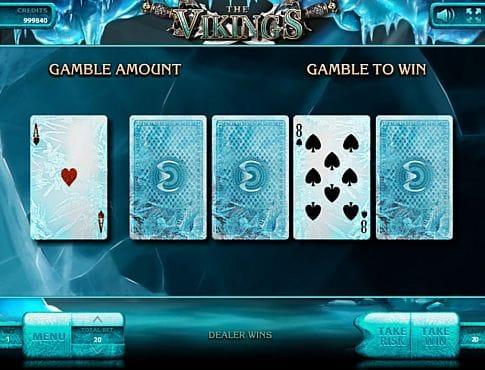 Риск-игра в слоте The Vikings