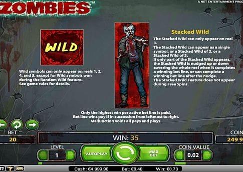 Дикий знак в слоте Zombies
